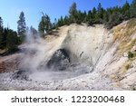 view of sulfur fumes coming out ...   Shutterstock . vector #1223200468