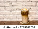 ice caramel macchiato in the... | Shutterstock . vector #1223202298