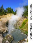 view of sulfur fumes coming out ...   Shutterstock . vector #1223203882