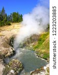 view of sulfur fumes coming out ...   Shutterstock . vector #1223203885