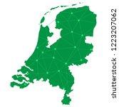 map of netherlands from... | Shutterstock .eps vector #1223207062