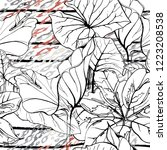 tropical  stripe  animal motif. ...   Shutterstock .eps vector #1223208538