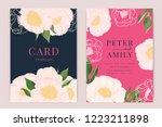wedding invitation  floral... | Shutterstock .eps vector #1223211898