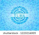 turk light blue emblem. mosaic... | Shutterstock .eps vector #1223216005