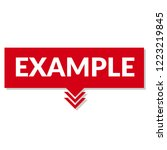 example sign label. features... | Shutterstock .eps vector #1223219845