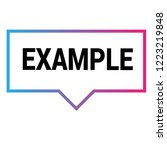 example sign label. features... | Shutterstock .eps vector #1223219848