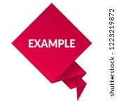 example sign label. features... | Shutterstock .eps vector #1223219872