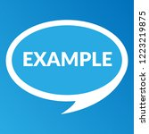 example sign label. features... | Shutterstock .eps vector #1223219875