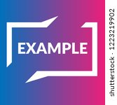 example sign label. features... | Shutterstock .eps vector #1223219902