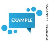 example sign label. features... | Shutterstock .eps vector #1223219908