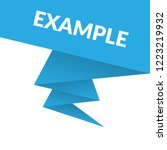 example sign label. features... | Shutterstock .eps vector #1223219932