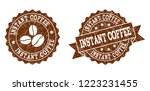 instant coffee rubber stamps....   Shutterstock .eps vector #1223231455
