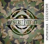 top secret evidence camouflaged ...   Shutterstock .eps vector #1223231545