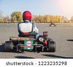 karting competitions  the...   Shutterstock . vector #1223235298