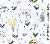 cute seamless pattern with...   Shutterstock .eps vector #1223241292
