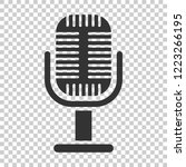 microphone icon in flat style.... | Shutterstock .eps vector #1223266195