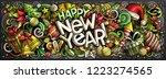 happy new year hand drawn... | Shutterstock .eps vector #1223274565