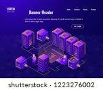 big data processing isometric...   Shutterstock .eps vector #1223276002