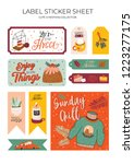 cute nordic gift labels ... | Shutterstock .eps vector #1223277175