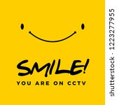 smile you are on cctv text | Shutterstock .eps vector #1223277955