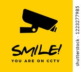 smile you are on cctv box | Shutterstock .eps vector #1223277985