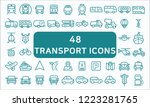 set of 48 transport related... | Shutterstock .eps vector #1223281765