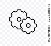 cogwheel vector linear icon... | Shutterstock .eps vector #1223288848