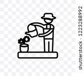 florist vector linear icon... | Shutterstock .eps vector #1223288992