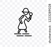 detective vector linear icon...   Shutterstock .eps vector #1223289028