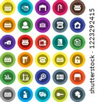 white solid icon set  cottage... | Shutterstock .eps vector #1223292415