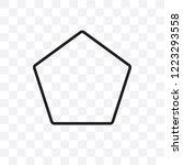 pentagon vector linear icon... | Shutterstock .eps vector #1223293558