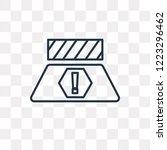 road barrier vector outline... | Shutterstock .eps vector #1223296462