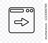next page vector linear icon... | Shutterstock .eps vector #1223300785