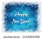 happy new year greeting card.... | Shutterstock . vector #1223301058