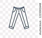 oxford wave suit pants vector... | Shutterstock .eps vector #1223302648