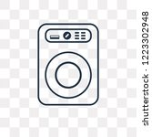 washing machine vector outline... | Shutterstock .eps vector #1223302948