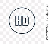 hd video vector outline icon... | Shutterstock .eps vector #1223308138