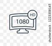 1080p hd tv vector outline icon ... | Shutterstock .eps vector #1223308165