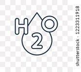 h2o vector outline icon...