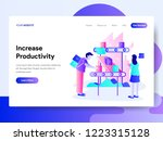 landing page template of... | Shutterstock .eps vector #1223315128