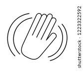 hand waving of hello or goodbye ... | Shutterstock .eps vector #1223322592