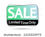 sale banner design template ... | Shutterstock .eps vector #1223323975
