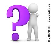question mark 3d rendering man... | Shutterstock . vector #1223326798