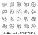 engineering line icons. set of... | Shutterstock .eps vector #1223329855