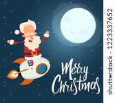 santa claus is flying on a... | Shutterstock .eps vector #1223337652