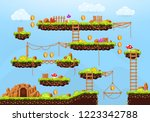 video game. cartoon elements... | Shutterstock .eps vector #1223342788