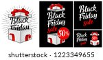 open gift box with ribbon  bow  ... | Shutterstock .eps vector #1223349655