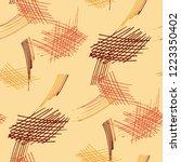 various pen hatches. seamless...   Shutterstock .eps vector #1223350402