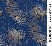 various pen hatches. seamless...   Shutterstock .eps vector #1223350405