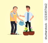 occupational therapy in... | Shutterstock .eps vector #1223357662